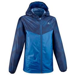 Veste imperméable de randonnée - MH150 bleue - enfant 7-15 ans