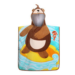 兒童款衝浪毛巾衣(適合110 到125 cm使用)-花草款