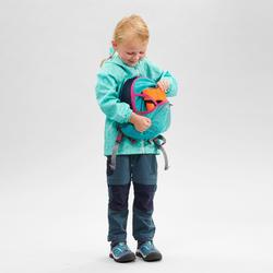 Regenjas voor wandelen kinderen MH500 turquoise 2-6 jaar