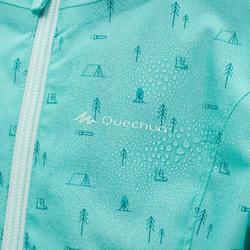 Veste imperméable de randonnée - MH500 KID turquoise - enfant