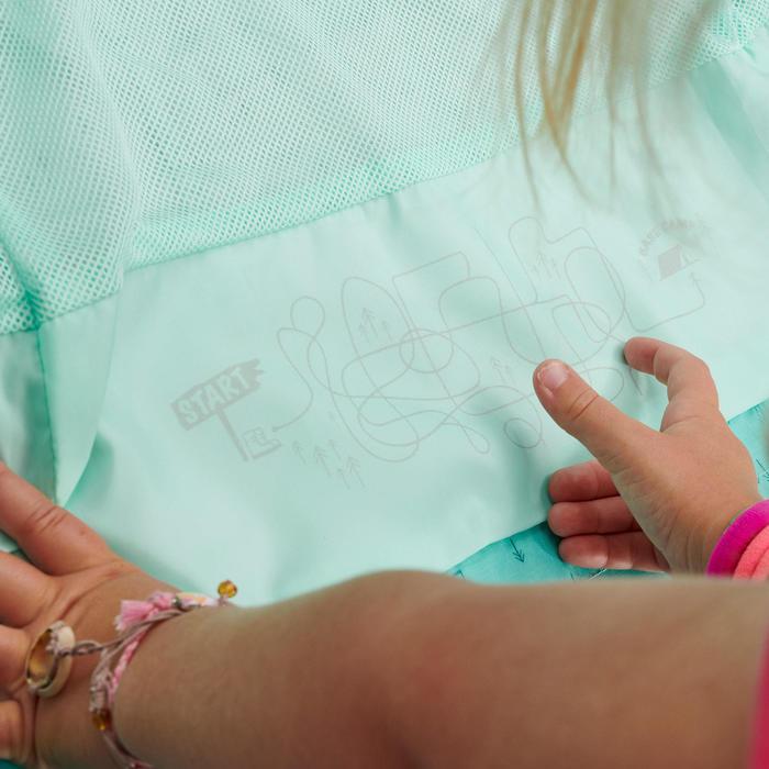 Veste imperméable de randonnée - MH500 KID turquoise - enfant 2-6 ANS