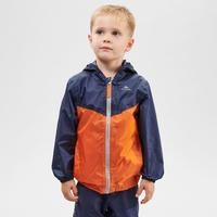 Waterproof hiking jacket - MH150 orange/blue - children aged 2-6 YEARS