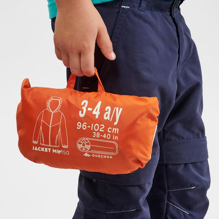Veste imperméable de randonnée - MH150 orange/bleue - enfant 2-6 ANS