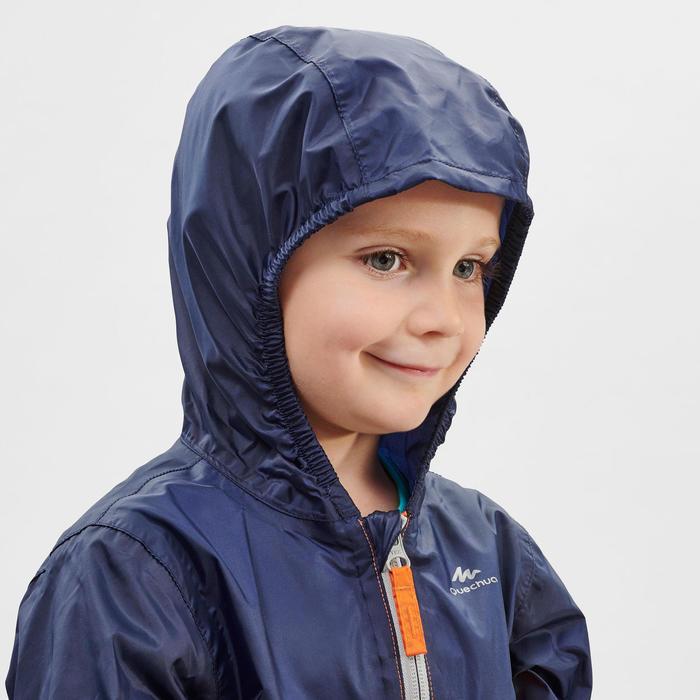 Waterdichte wandeljas voor kinderen MH150 oranje/blauw