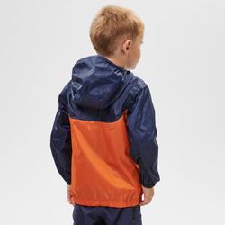 Veste imperméable de randonnée - MH150 orange/bleue - enfant
