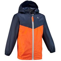 Regenjas voor wandelen kinderen MH150 oranje/blauw 2-6 jaar