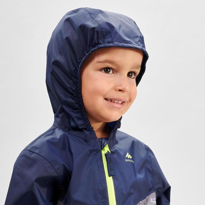 Regenjas voor wandelen kinderen MH150 blauw/grijs 2 tot 6 jaar