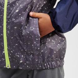 Veste imperméable de randonnée - MH150 bleue/grise - enfant 2-6 ANS