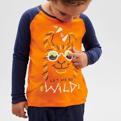 兒童款抗UV長袖登山T 恤MH150 -橘色