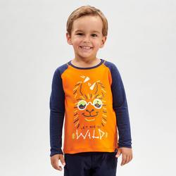 T-shirt ANTI-UV manches longues de randonnée - MH150 orange - enfant 2-6 ANS