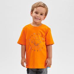 T-shirt de randonnée - MH100 orange - enfant 2-6 ANS