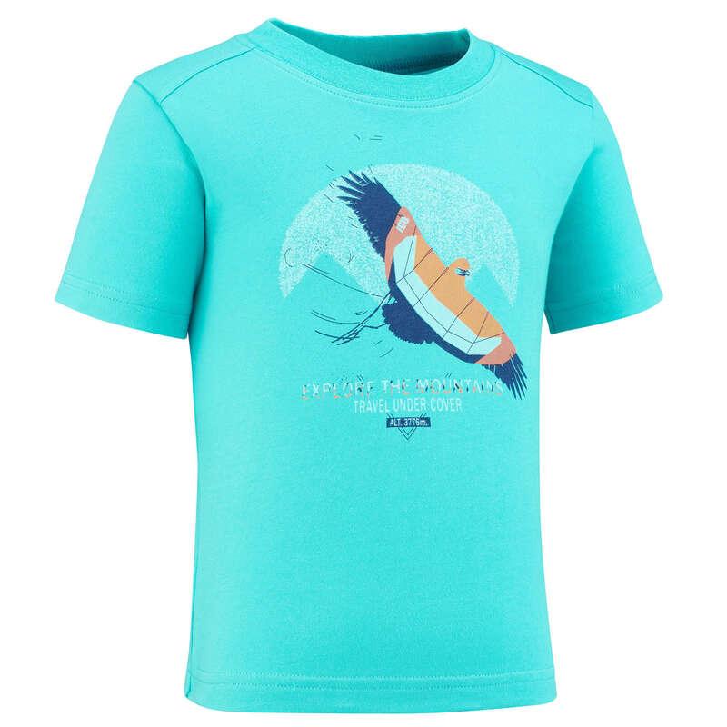 TS-SH-GIAC-PANT BAMBINO 2-6A Sport di Montagna - T-shirt bambino MH100 azzurra QUECHUA - Trekking bambino