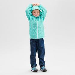 Sur-pantalon imperméable de randonnée - MH100 bleu marine - enfant