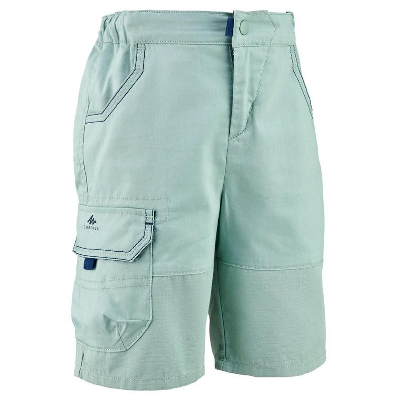 Hiking shorts - MH500 KID - Green - children 2-6 YEARS