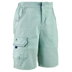 Kids' hiking shorts - MH500 - Green