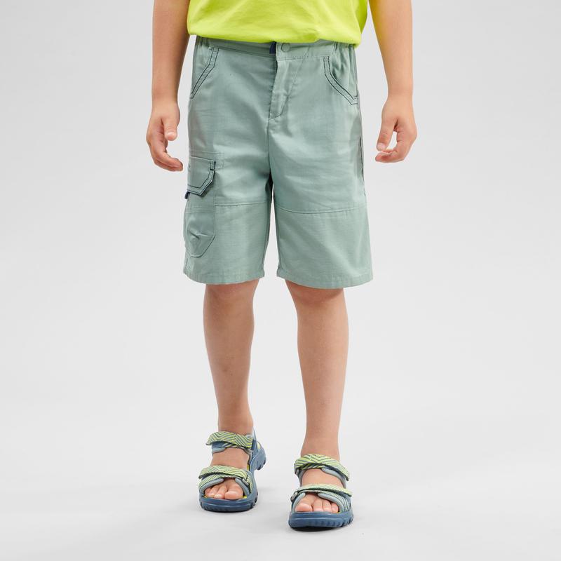Children's Hiking Shorts - MH500 KID Green