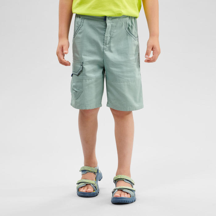 Short de randonnée - MH500 KID vert - enfant 2-6 ANS