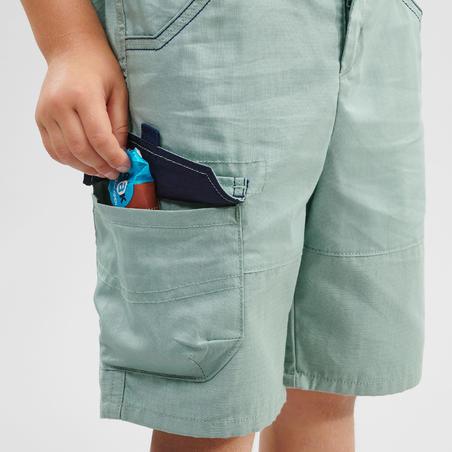 Kids Hiking Shorts - MH500 KID - Green