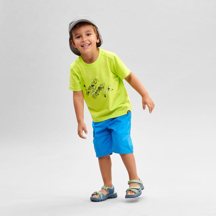 Wandelshort voor kinderen MH500 blauw 2 tot 6 jaar