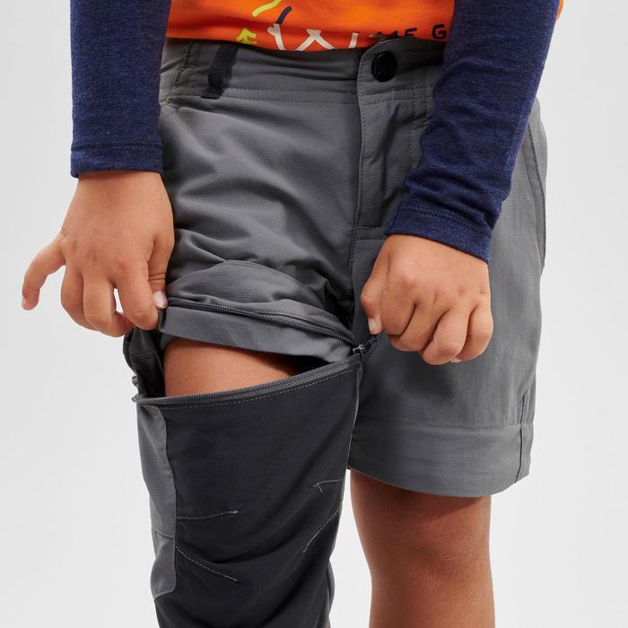 Wandelbroek voor kinderen MH500 grijs afritsbaar 2-6 jaar