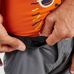 Kids' Modular Hiking Trousers - MH500 KID Aged 2-6 YEARS - Grey