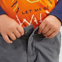 Pantalon de randonnée modulable - MH500 KID gris - Enfants
