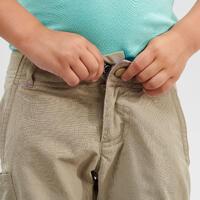 Kids' Modular Hiking Trousers - MH500 KID Aged 2-6 YEARS - Beige
