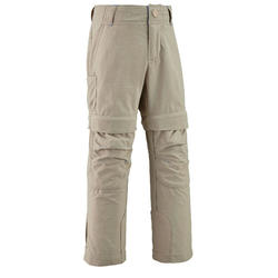 Kids' Modular Hiking Trousers - MH500 KID Aged 2-6 YEARS - Beige