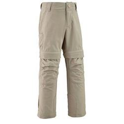 兒童款可調節式健行長褲-MH500-米色