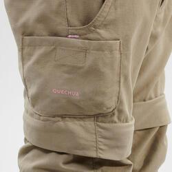Pantalon de randonnée modulable - MH500 KID beige - enfant 2-6 ANS