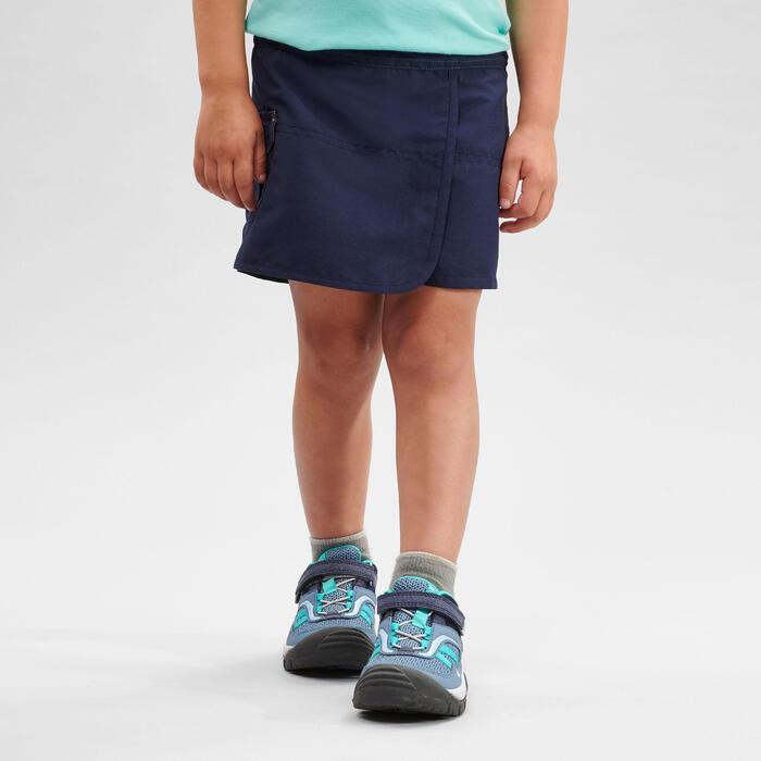 Jupe short de randonnée - MH100 KID bleu marine - enfant 2-6 ANS