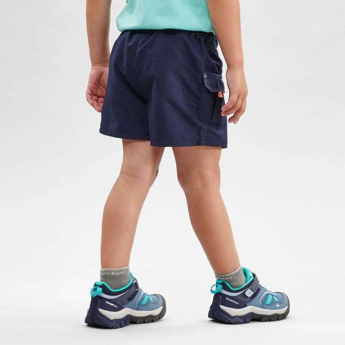 兒童款健行短褲裙MH100 KID-軍藍色