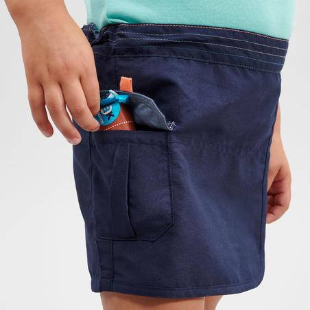 Jupe short de randonnée - MH100 KID bleu marine - Enfants