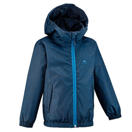 Kids' Waterproof Hiking Jacket - MH500 KID Aged 2-6 - Blue