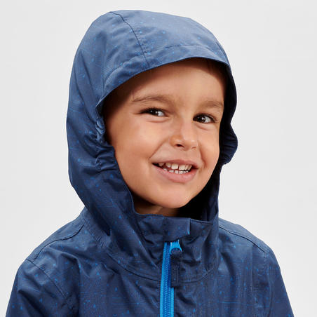 ג'קט טיולים חסין מים MH500 לילדים לגילאי שנתיים עד 6 - כחול