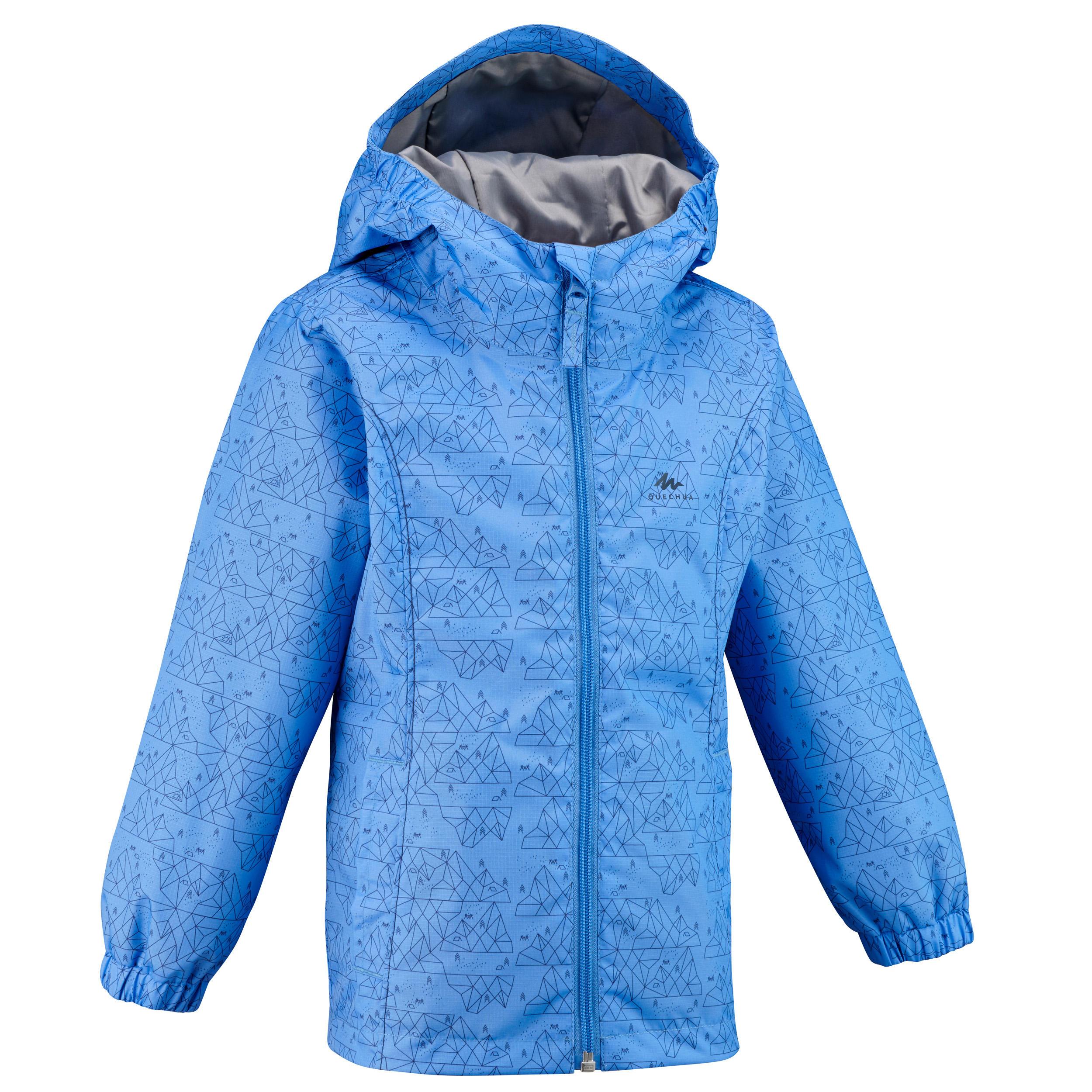 Purple,3-4Y Baby Girls Kid Waterproof Hooded Coat Jacket Outwear Raincoat