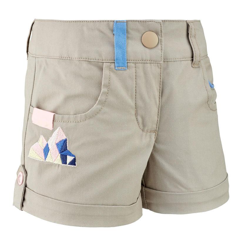 Hiking shorts - MH500 KID beige - children 2-6 YEARS