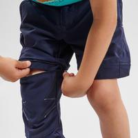 Vaikiškos nusegamos žygių kelnės MH500 KID