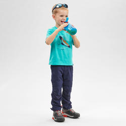 Children's Modular hiking trousers - MH500 KID blue - 2-6 years