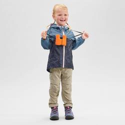 Veste imperméable de randonnée - MH150 KID bleue/grise - enfant 2-6 ANS