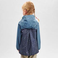Regenjas voor wandelen kinderen MH150 blauw/grijs 2-6 jaar