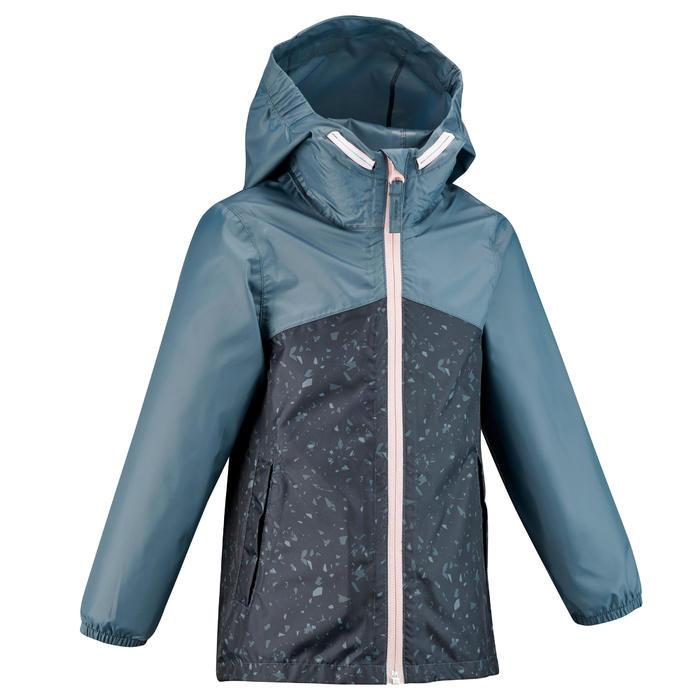Veste imperméable de randonnée - MH150 KID bleue/grise - enfant