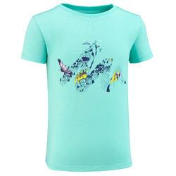 Wandelshirt voor kinderen MH100 turquoise 2 tot 6 jaar