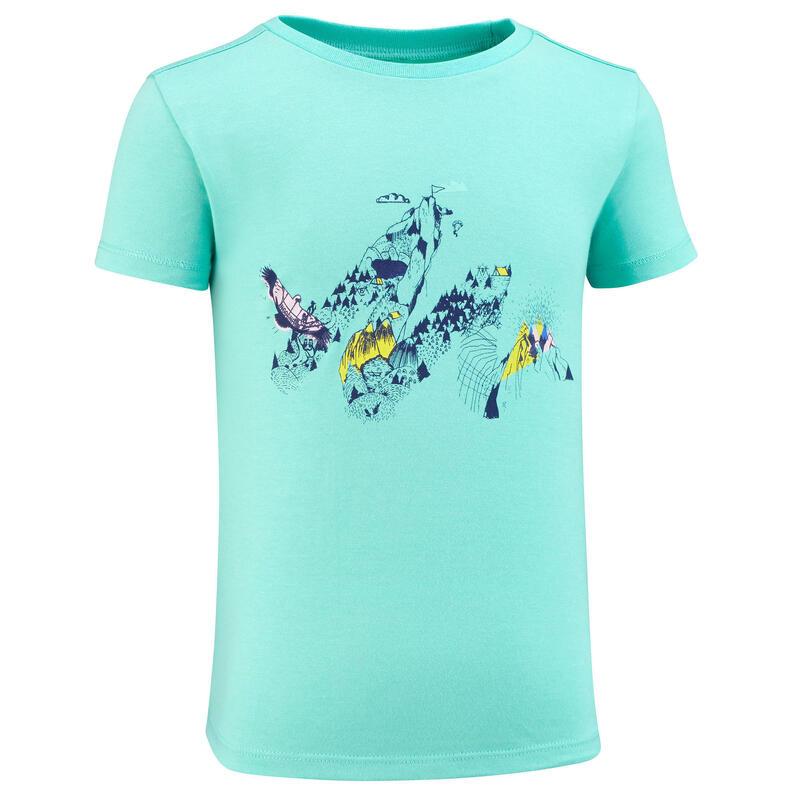 T-shirt de randonnée - MH100 KID turquoise - enfant 2-6 ANS