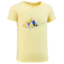 T-shirt de caminhada - MH100 KID amarelo claro - Criança 2-6 ANOS