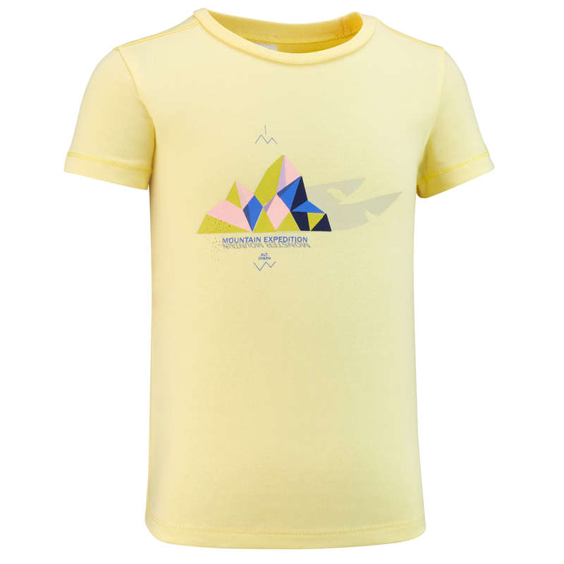 Lány póló, kabát, nadrág, rövidnadrág 2-6 év Túrázás - Gyerek túrapóló MH100 QUECHUA - Gyerek túraruházat