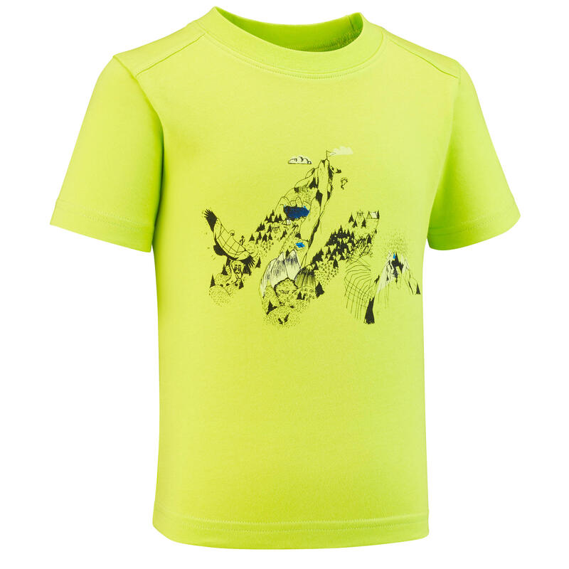 T-shirt de randonnée - MH100 vert - enfant 2-6 ANS
