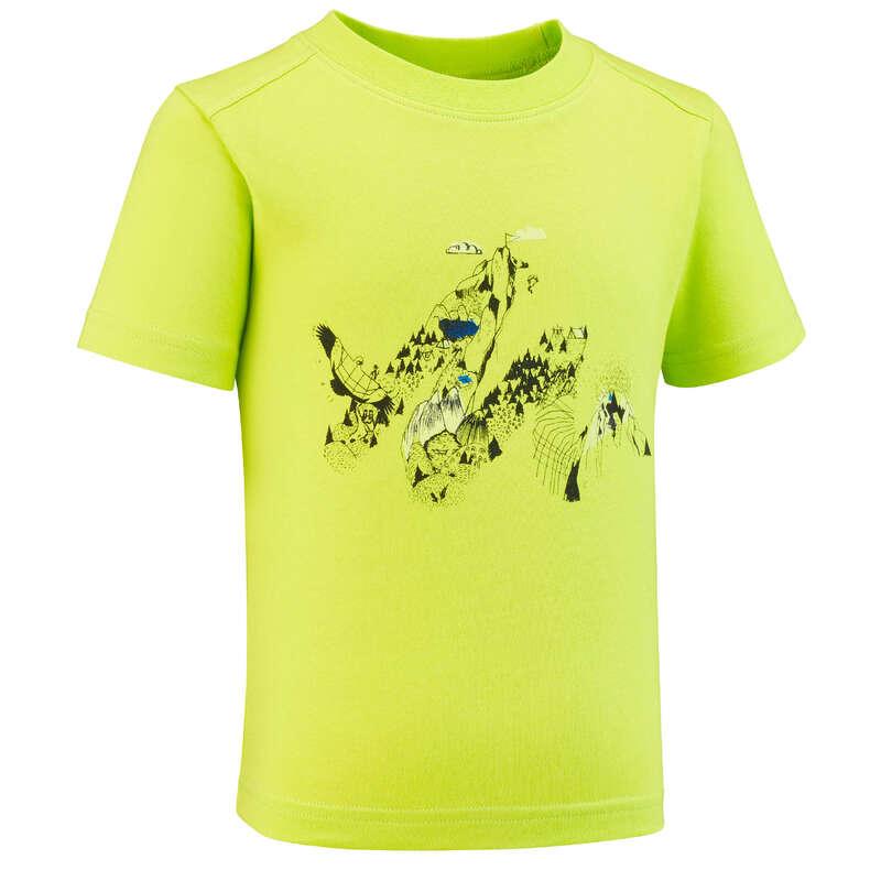 Fiú póló, kabát nadrág, rövidnadrág 2-6 év Túrázás - Gyerek túrapóló MH100 QUECHUA - Gyerek túraruházat