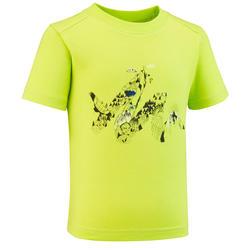 T-shirt montagna bambino 2-6 anni MH100 verde chiaro