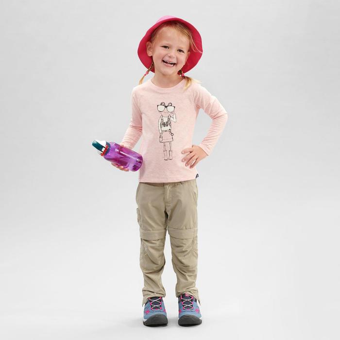 Uv-werend wandelshirt met lange mouwen voor kinderen MH150 roze 2-6 jaar